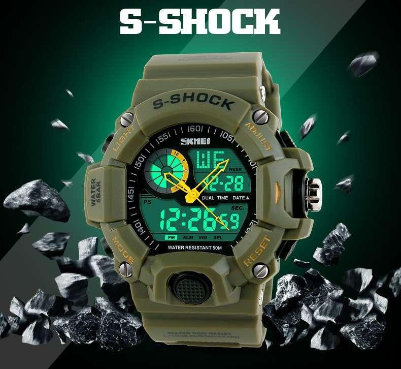 Reloj S Shock Skmei Militar Tactico Sumergible Antigolpes