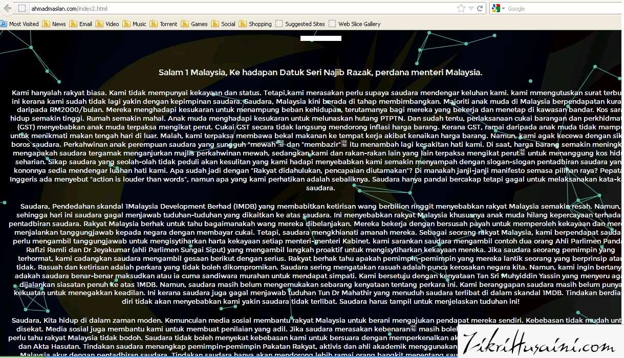 blog ahmad maslan, ahmad maslan kena hackm, blog ahmad maslan,
