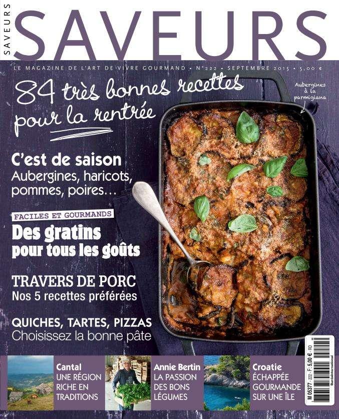 Saveurs 222 - Septembre 2015