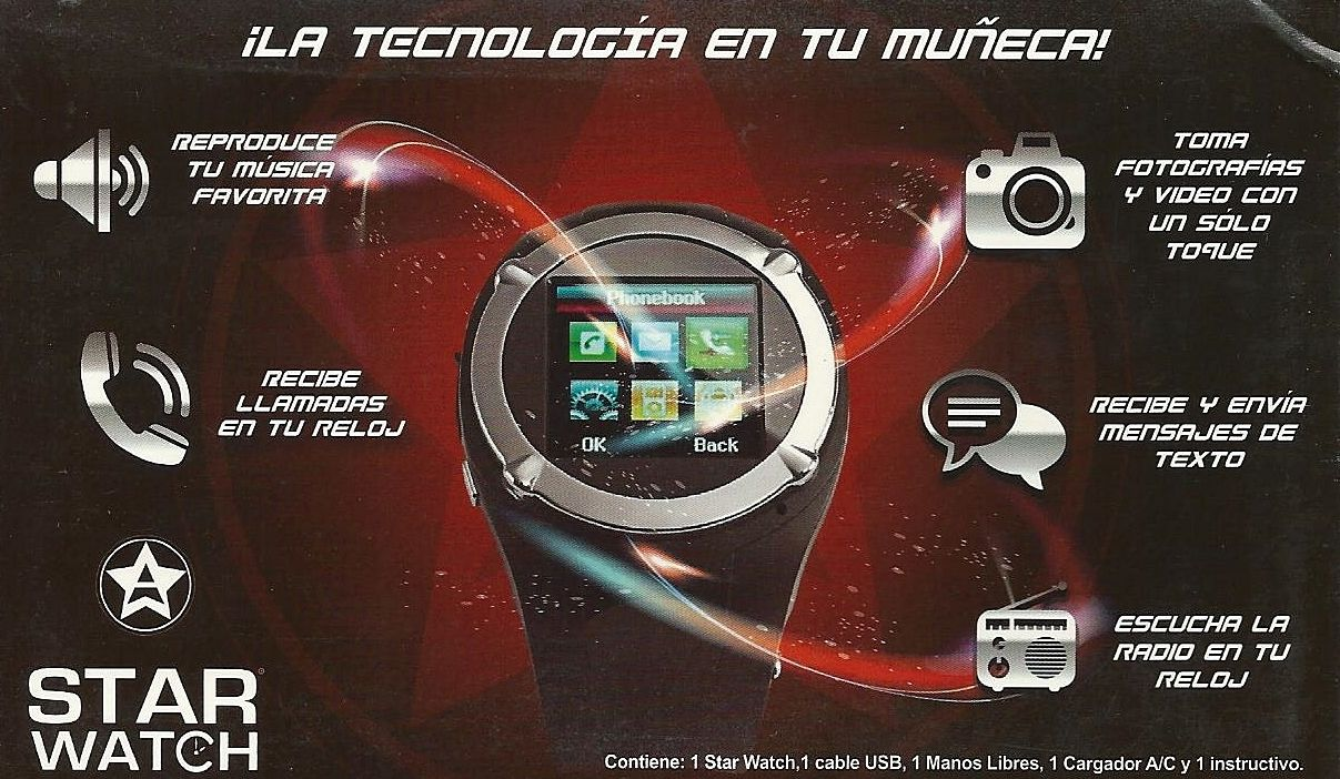 starwatch como lo vio en tv reloj celular smart watch