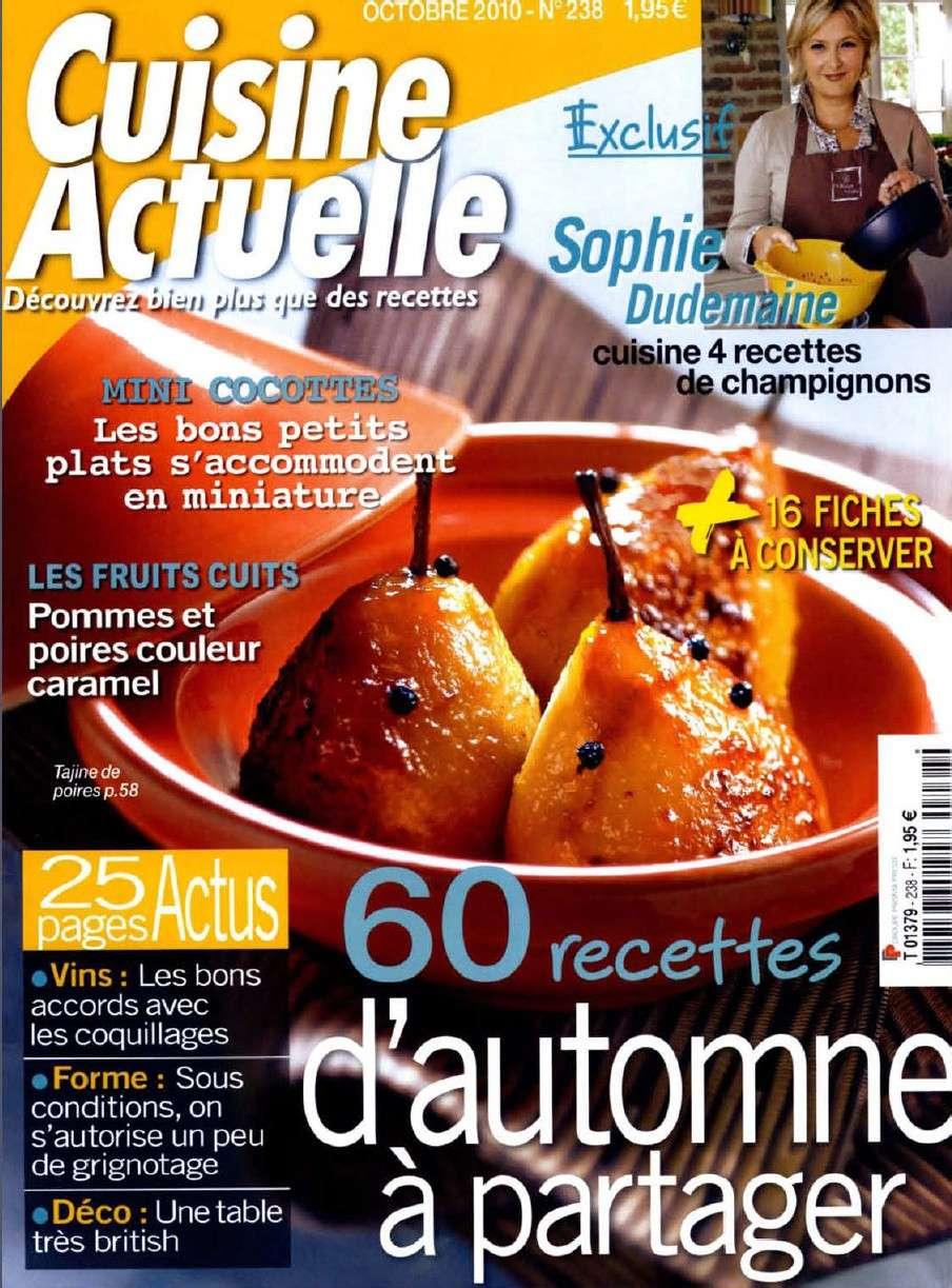 Cuisine Actuelle 238 - 60 recettes d'automne à partager