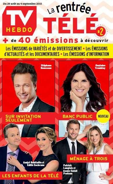 TV Hebdo - 29 Août au 4 Septembre 2015