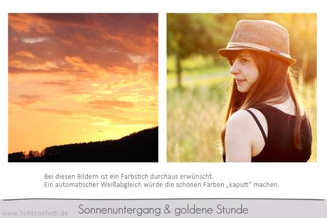 Foto-Kurs - Sonnenuntergang und goldene Stunde