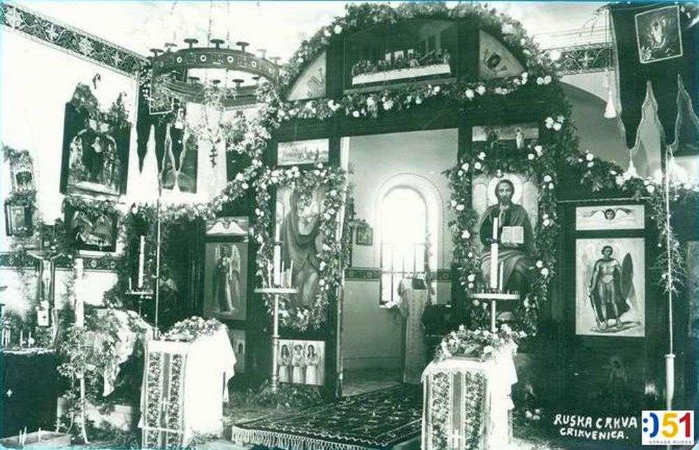 unutrašnjost ruska pravoslavna crkva Crikvenica
