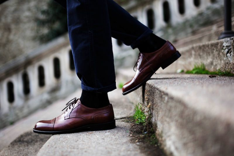 clif shoes menstyle fashion leather derby shoes