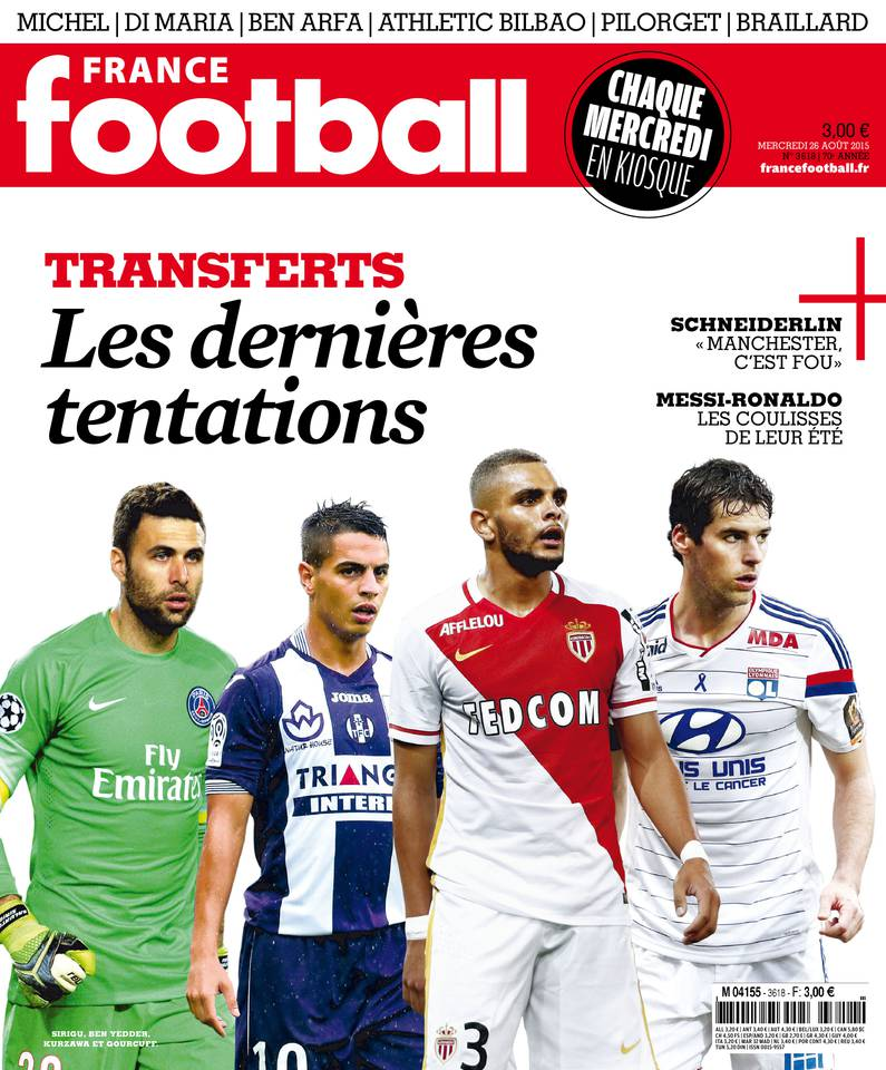 France Football du Mercredi 26 Août 2015
