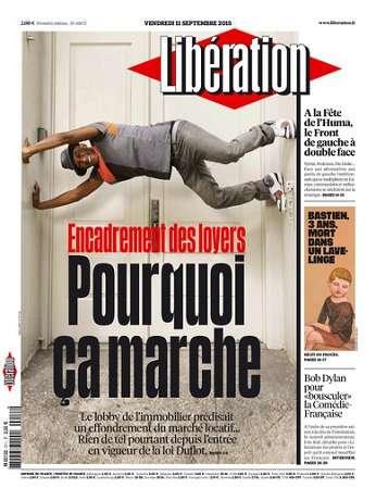 Liberation Du Vendredi 11 Septembre 2015