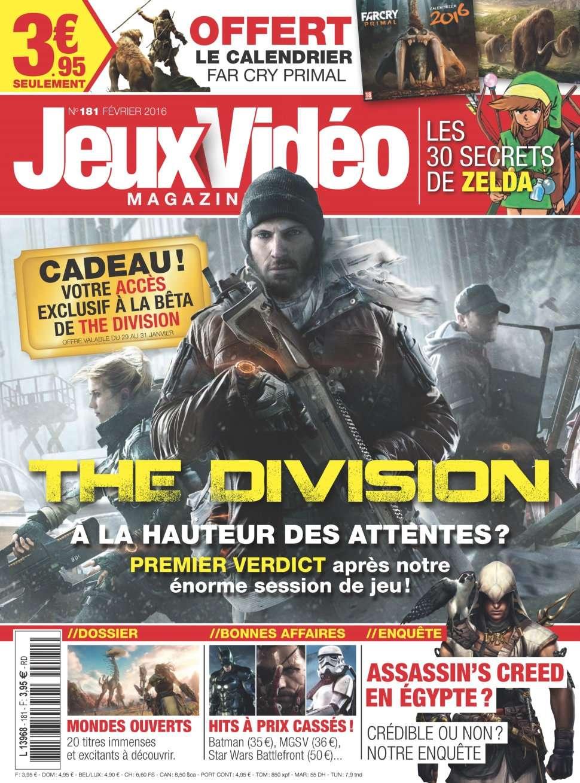 Jeux Vidéo magazine 181 - Février 2016