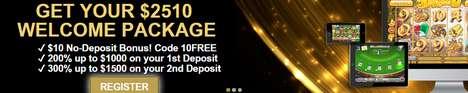 VegasCrestCasino 10$ no deposit