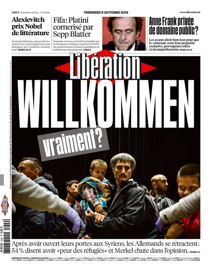 Libération du Vendredi 9 Octobre 2015