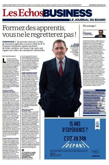 Les Echos Business Du Lundi 31 Aout 2015