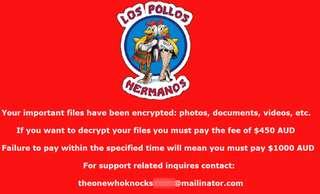 Remove 'Los Pollos Hermanos' Crypto Virus