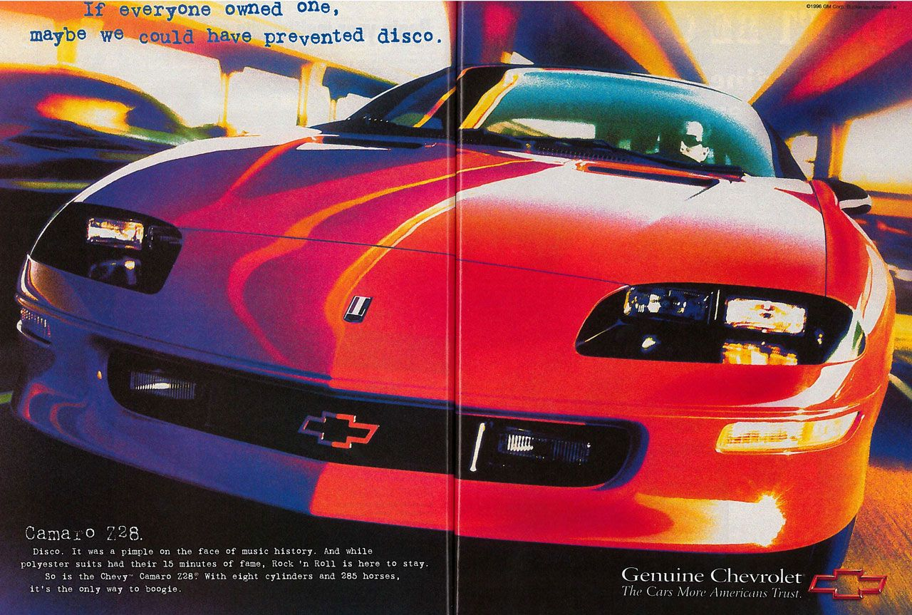 If everyone owned one Chevrolet Camaro Z28, maybe we could have prevented disco.