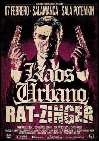 Kaos Urbano y Rat-Zinger en Salamanca