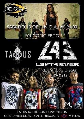 Taxus y Left Forever - cartel
