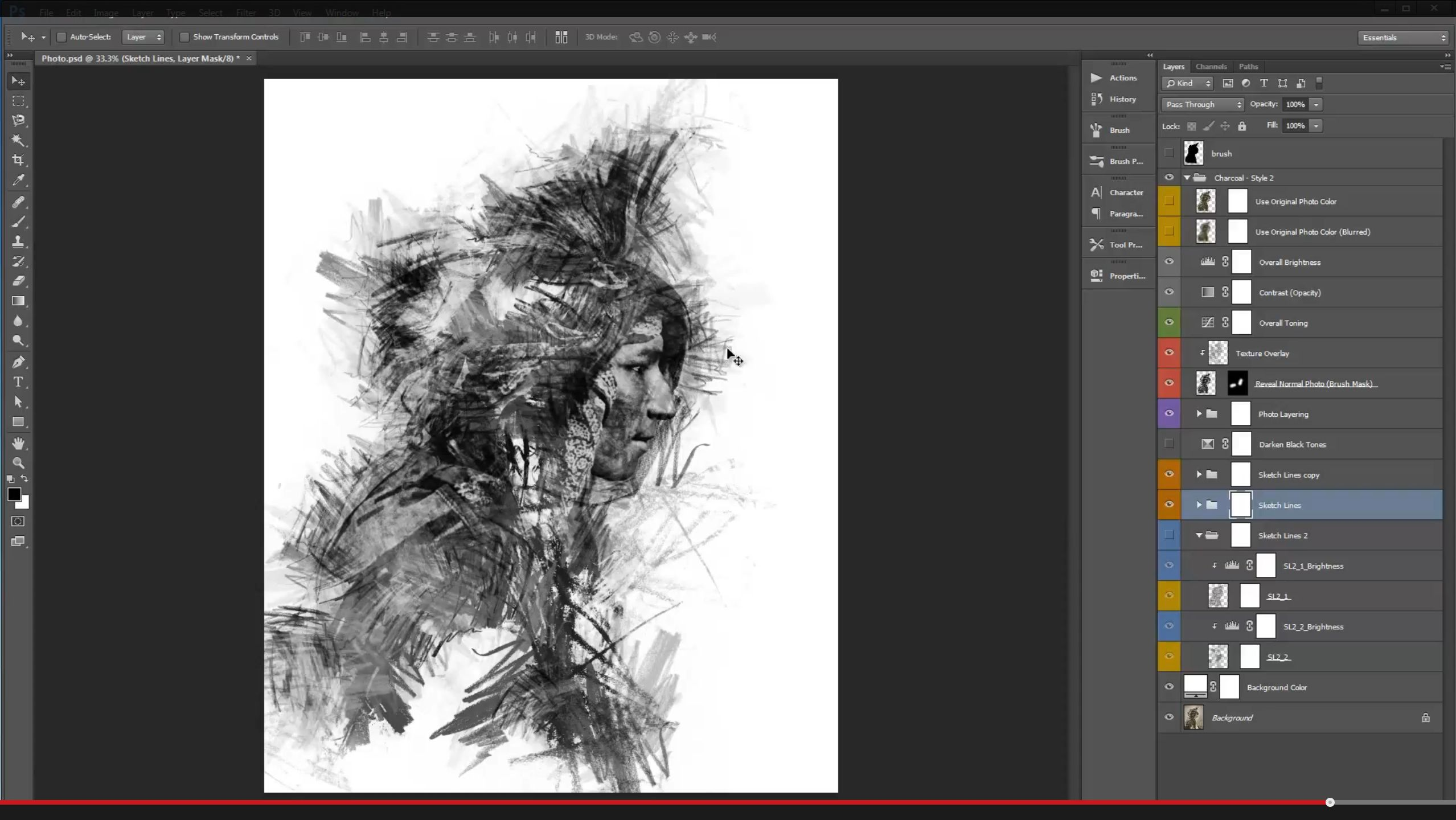 Charcoal Photoshop Action