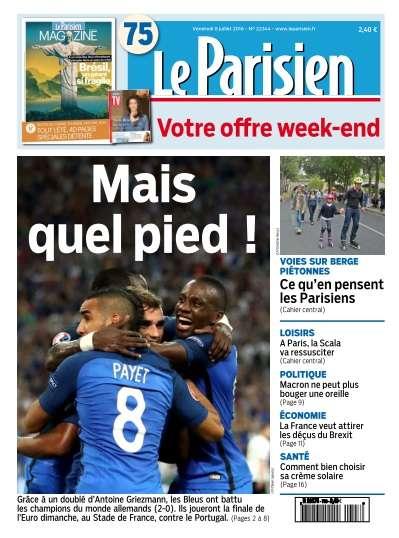 Le Parisien du Vendredi 8 Juillet 2016