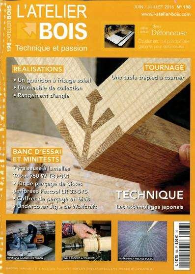 L'Atelier Bois 198 - Juin/Juillet 2016