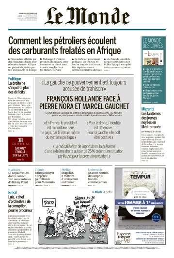 Le Monde du Vendredi 16 Septembre 2016