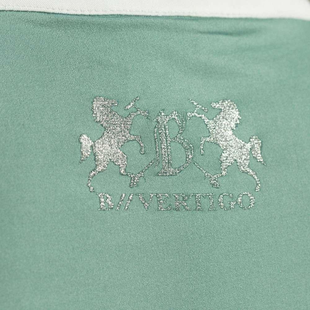 B Vertigo Debra UV Séchage Rapide Manches Courtes Women/'s Show Shirt Zip Côté Col