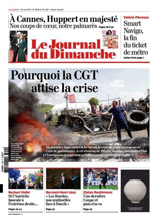 Le Journal du Dimanche 3619 du 22 Mai 2016