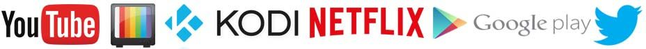 netflix youtube google play twiter