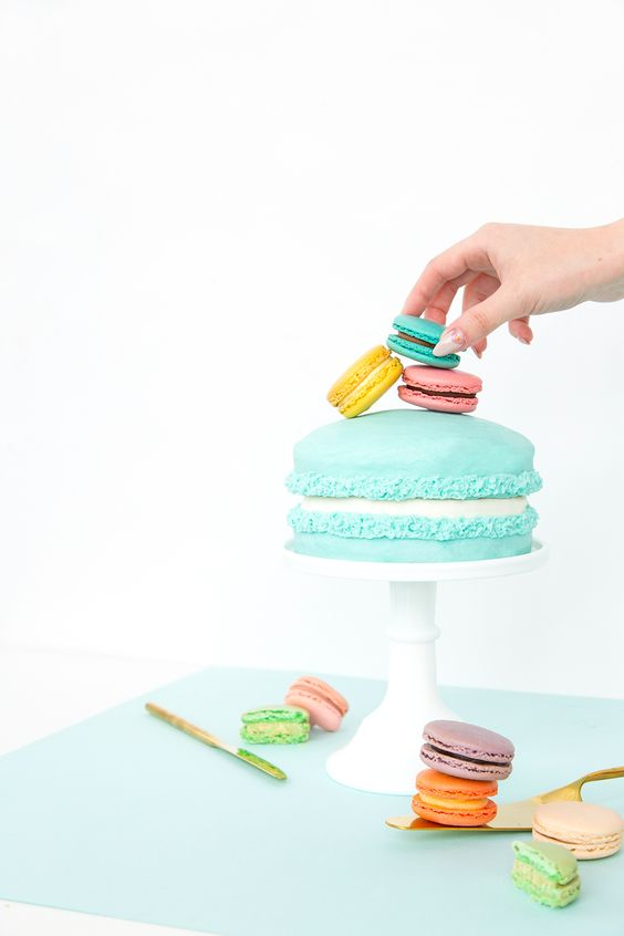Macaron Cake by AwwSam via Things I Love Thursday on KaelahBee.com