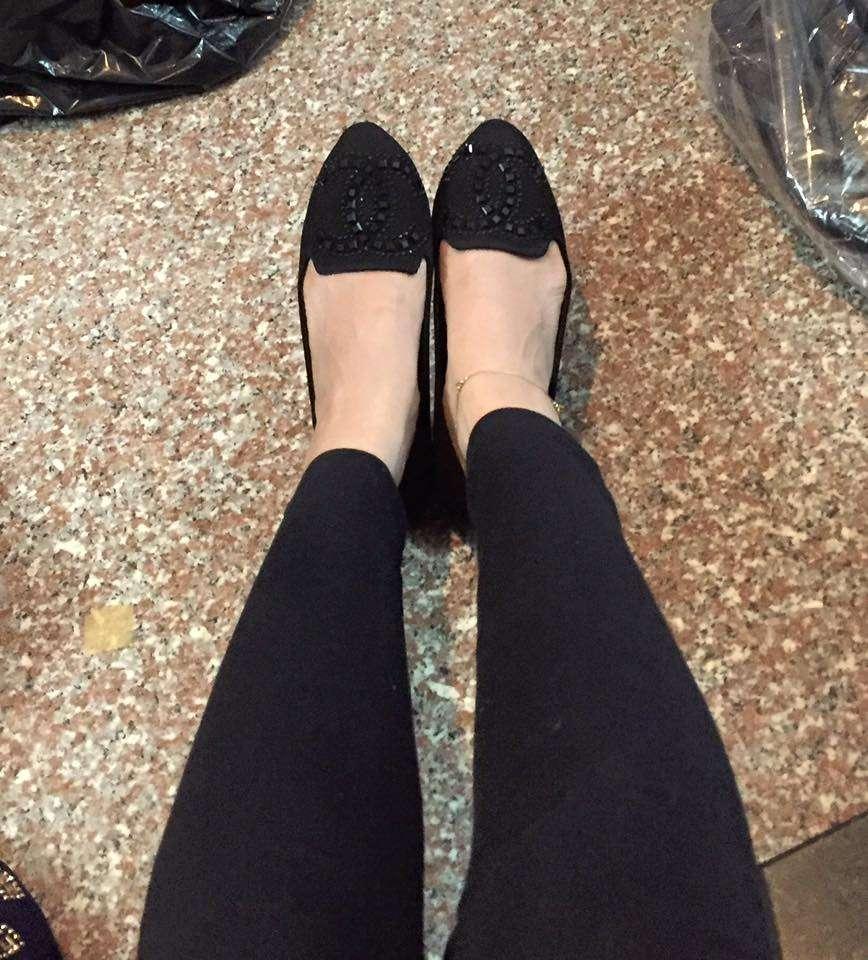 Giày búp bê đính đá chanel Size 36 đến 39