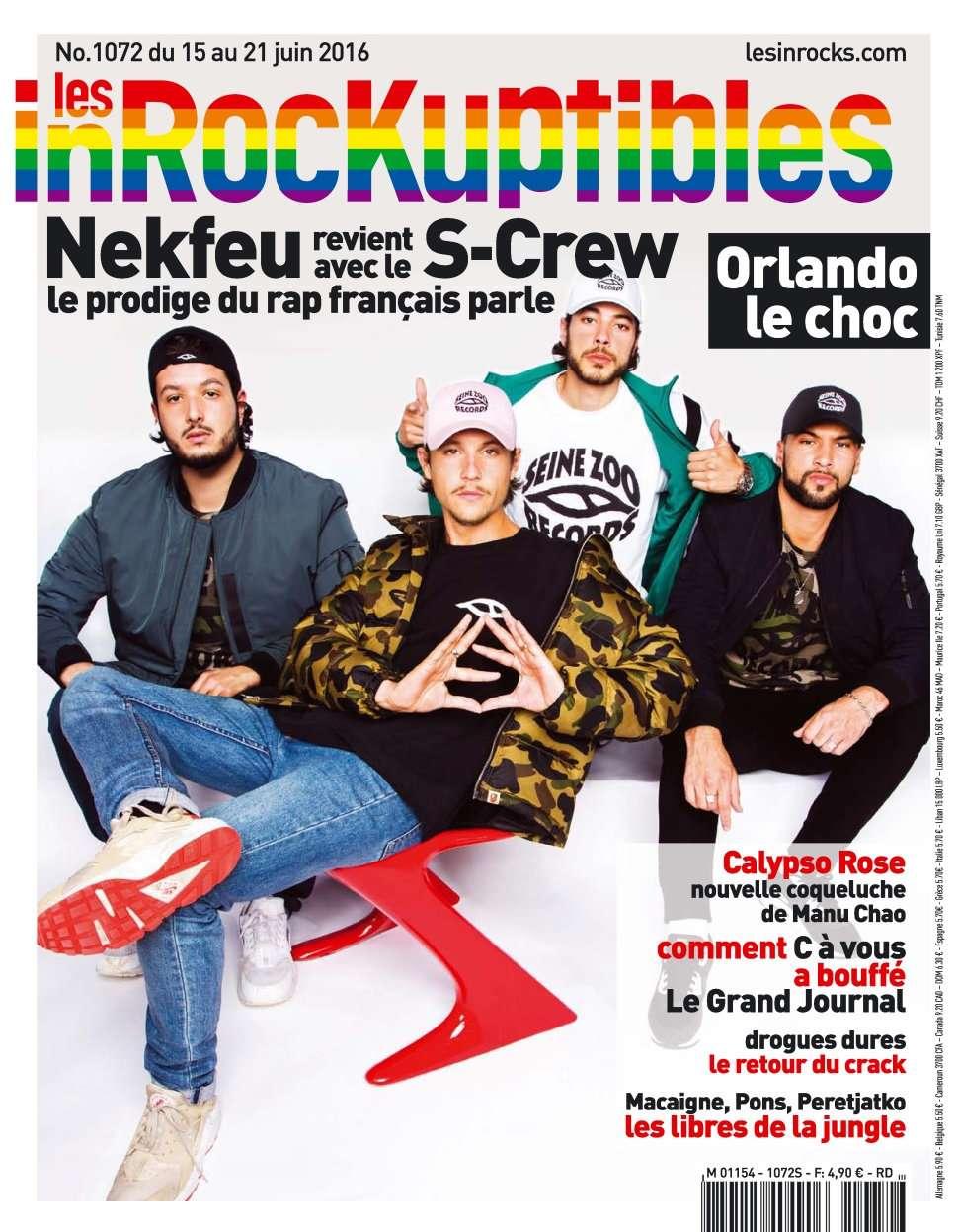 Les Inrockuptibles 1072 - 15 au 21 Juin 2016