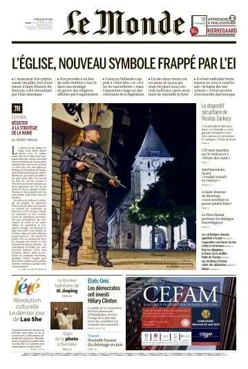 Le Monde du Jeudi 28 Juillet 2016