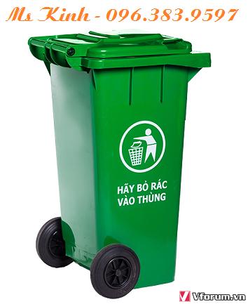 công ty sản xuất thùng đựng rác, thùng rác công nghiệp 120l chất liệu hdpe, thùng rác giá sỉ