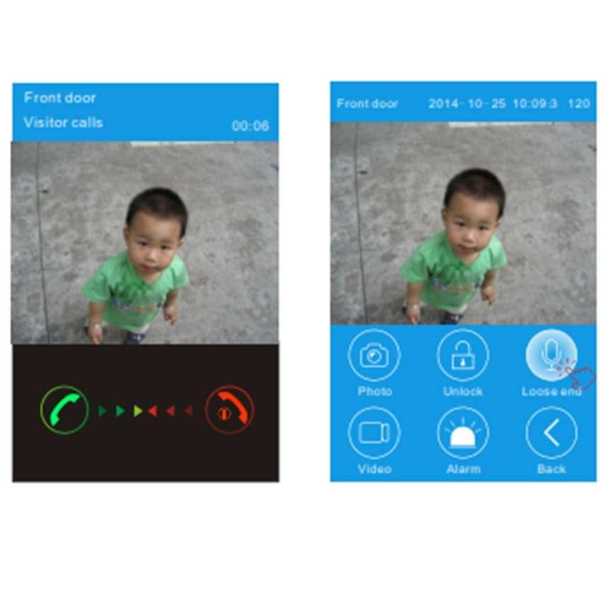 Chuông cửa màn hình không dây kết nối qua điện thoại KW01
