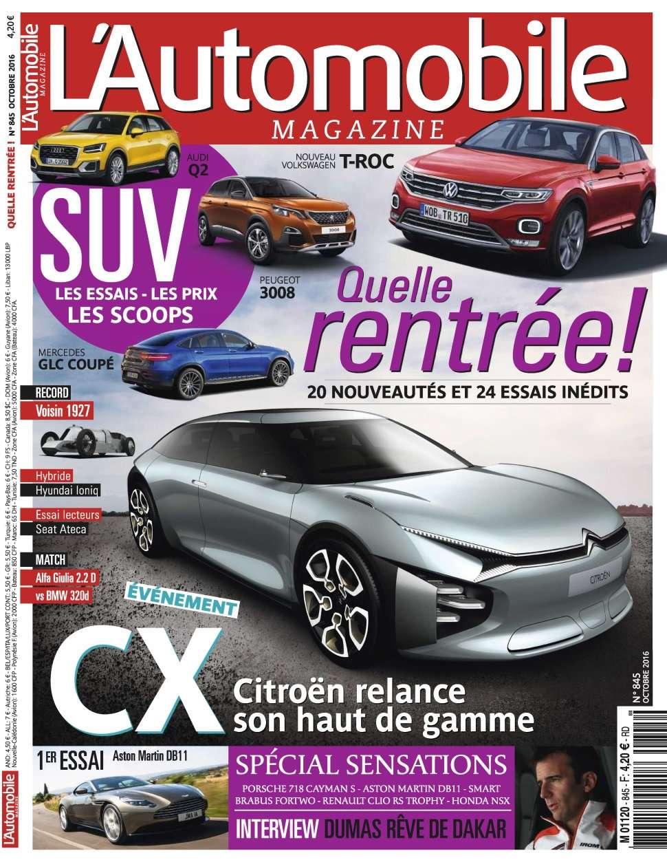 L'Automobile Magazine 845 - Octobre 2016
