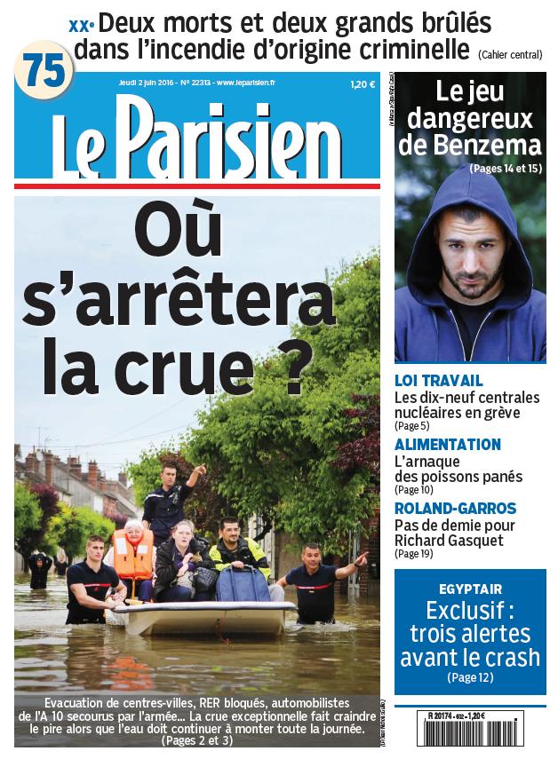 Le Parisien + Journal de Paris du Jeudi 2 Juin 2016