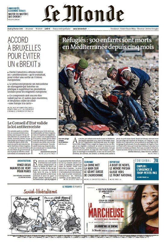 Le Monde + 2 Suppléments Du Jeudi 4 Fevrier 2016