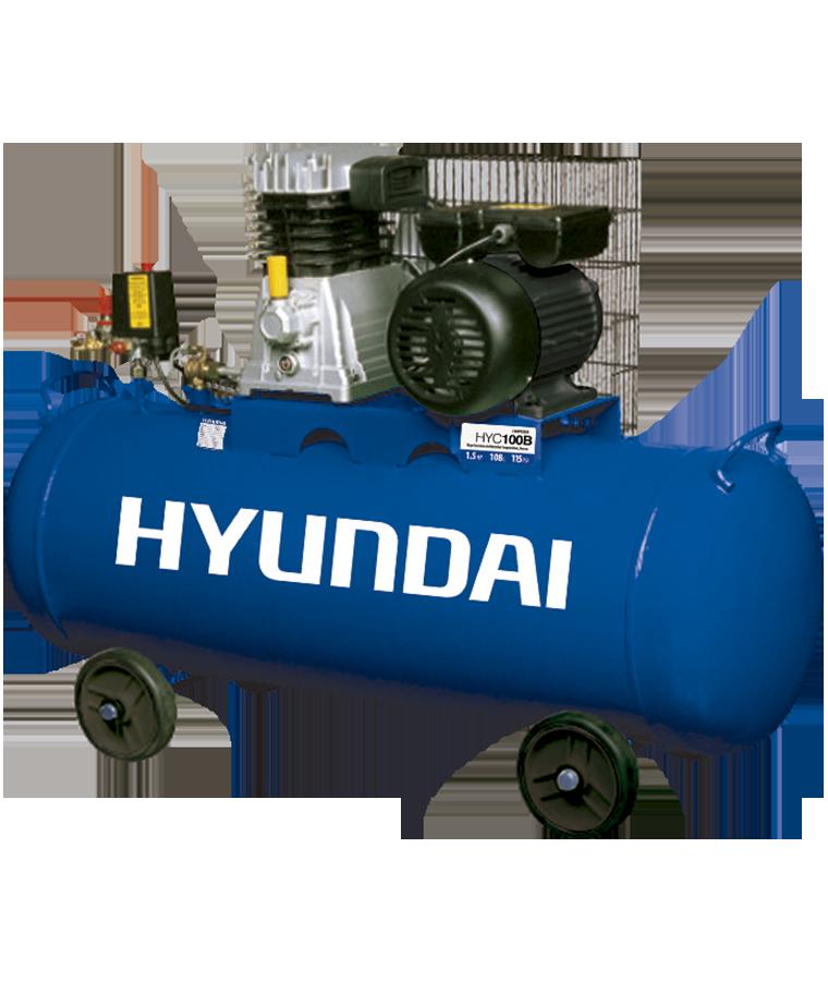 Compresor de Aire Hyundai Eléctrico 108L Monofásico 1.5 hp