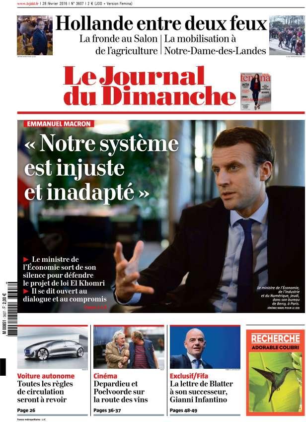 Le Journal du Dimanche - 28 Février 2016
