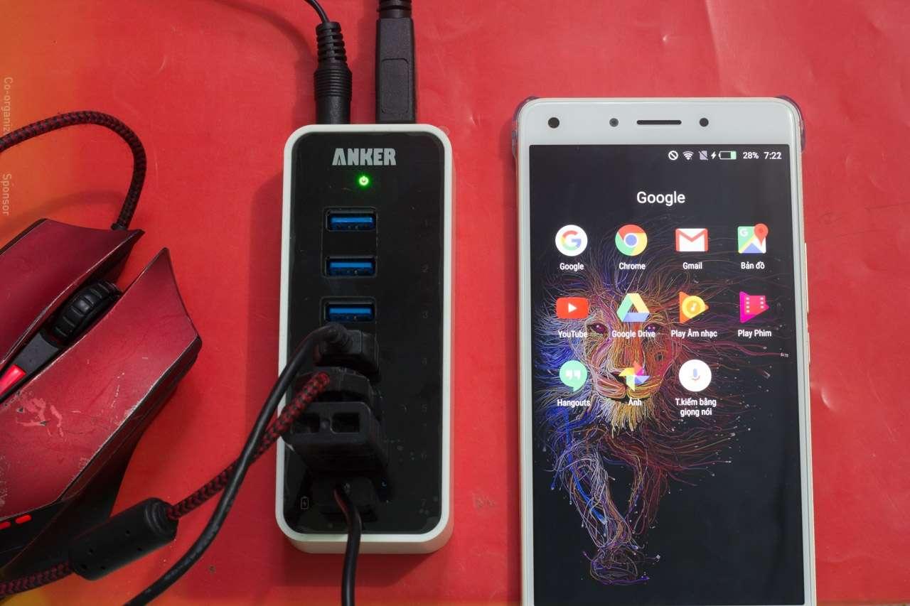Anker USB 3.0 Hub 7*USB 3.0 Ports: Hub USB 7 cổng kèm khả năng sạc với công suất 60W cho 7 thiết bị - 164556