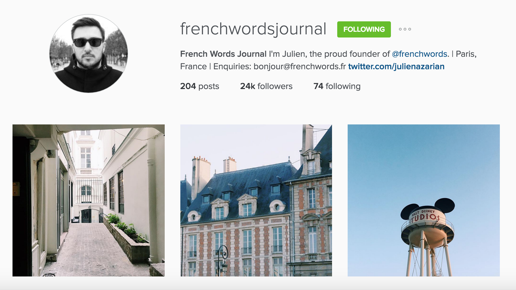 instagram cariboo paris account french words journal julien