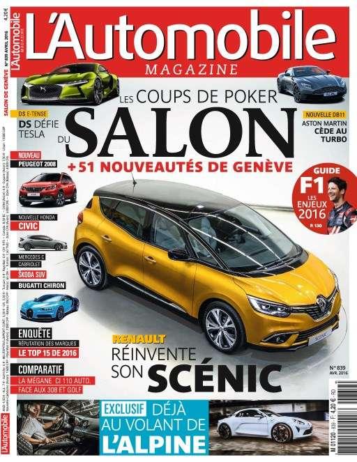 L'Automobile magazine 839 - Avril 2016