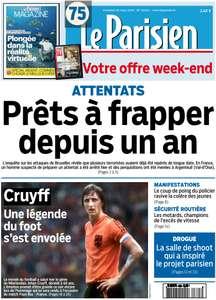 Le Parisien + Le Journal de Paris du Vendredi 25 Mars 2016