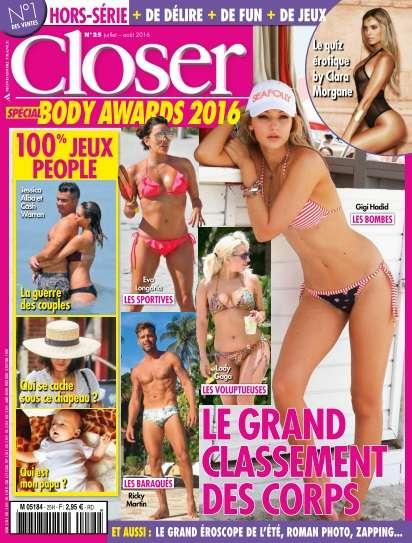Closer Hors-Série Jeux - Juillet/Août 2016