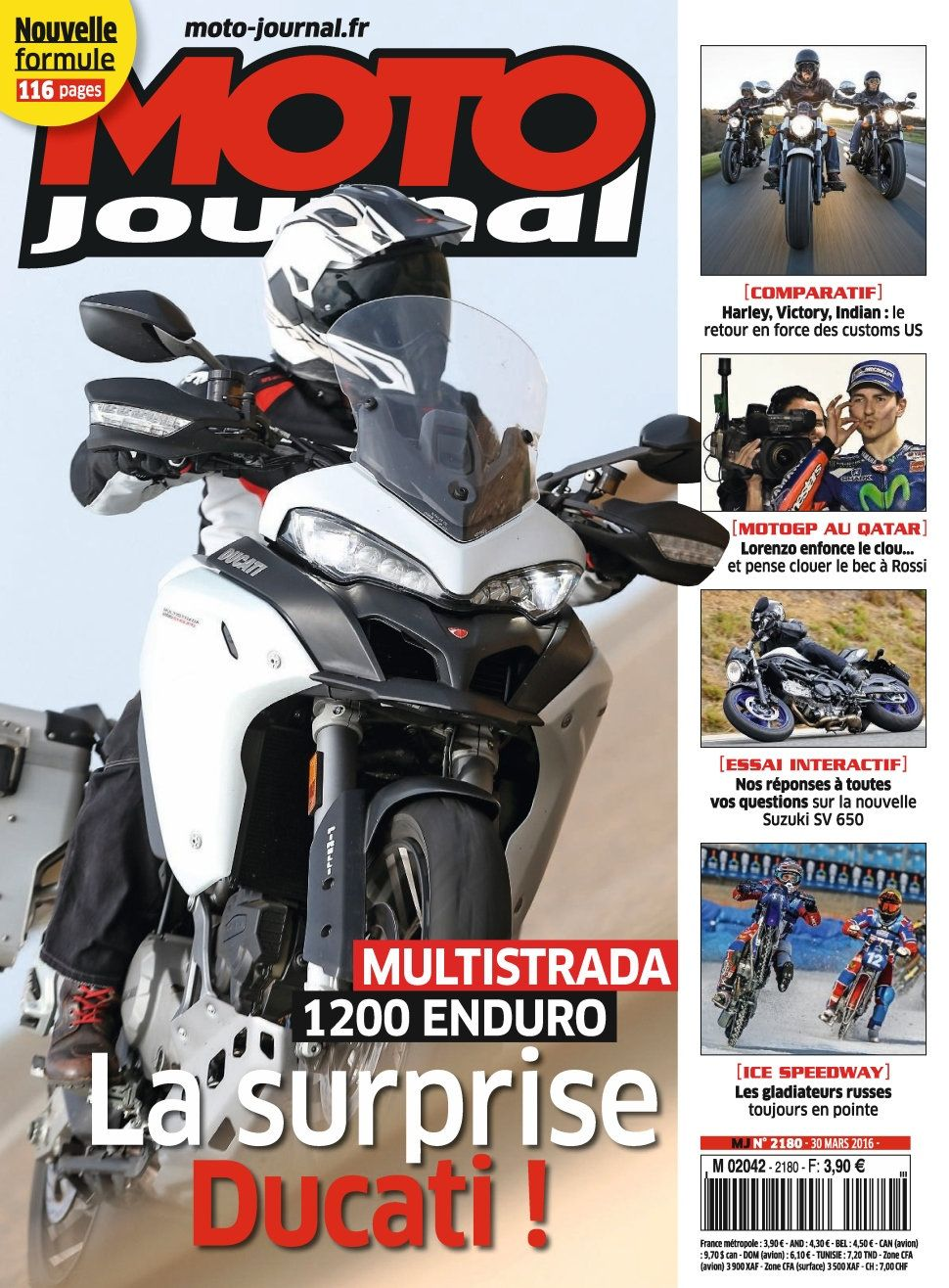 Moto Journal 2180 - 30 Mars 2016