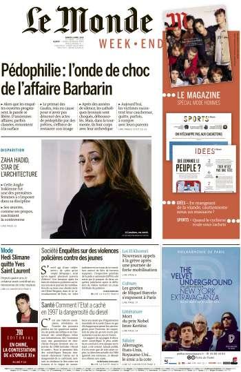 Le Monde du Samedi 2 Avril 2016