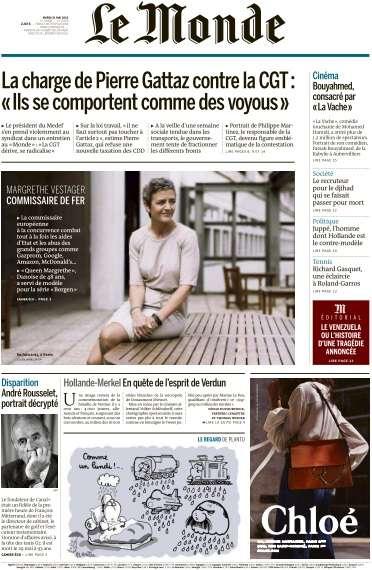 Le Monde + Eco&Entreprise du Mardi 31 Mai 2016