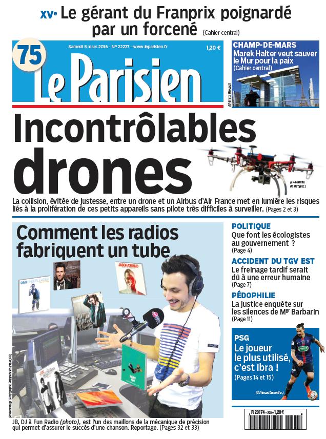 Le Parisien + Journal de Paris du Samedi 5 Mars 2016