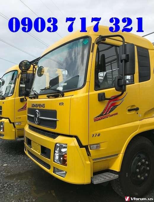 Gía xe tải Dongfeng B170 – 9T35 thùng bạt Inox. Gía bán trả góp xe tải Dongfeng B170 – 9T35 – 9350Kg