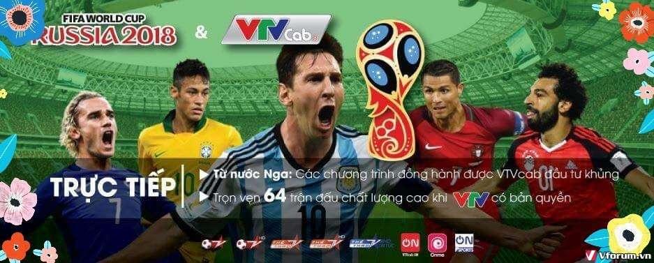 VTVCAB ON: Xem bóng đá World Cup 2018 Độc Quyền