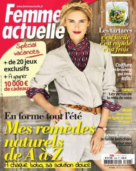 Femme Actuelle 1658 - 4 au 10 Juillet 2016