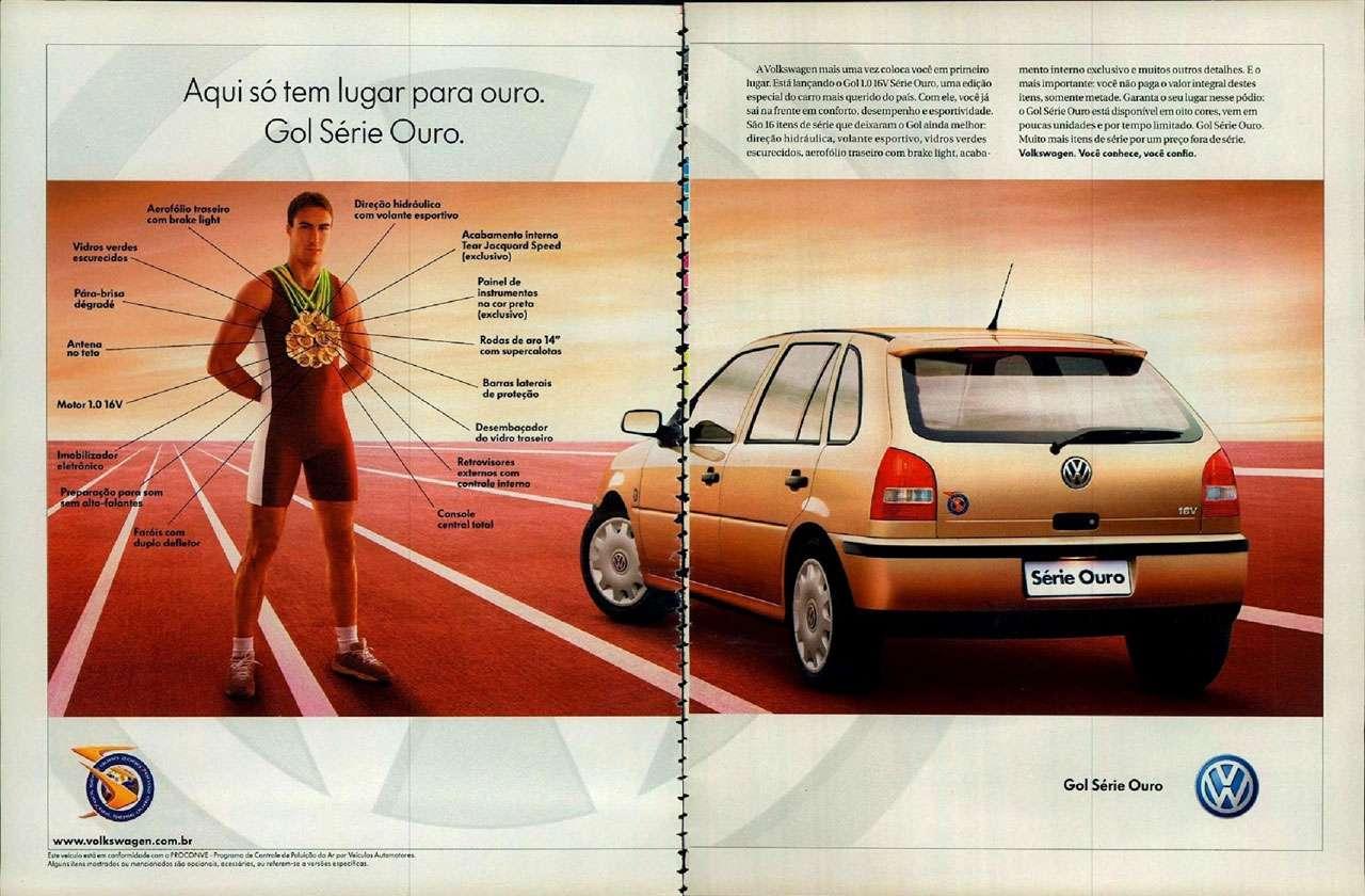 Aqui só tem lugar para ouro. Volkswagen Gol Série Ouro.